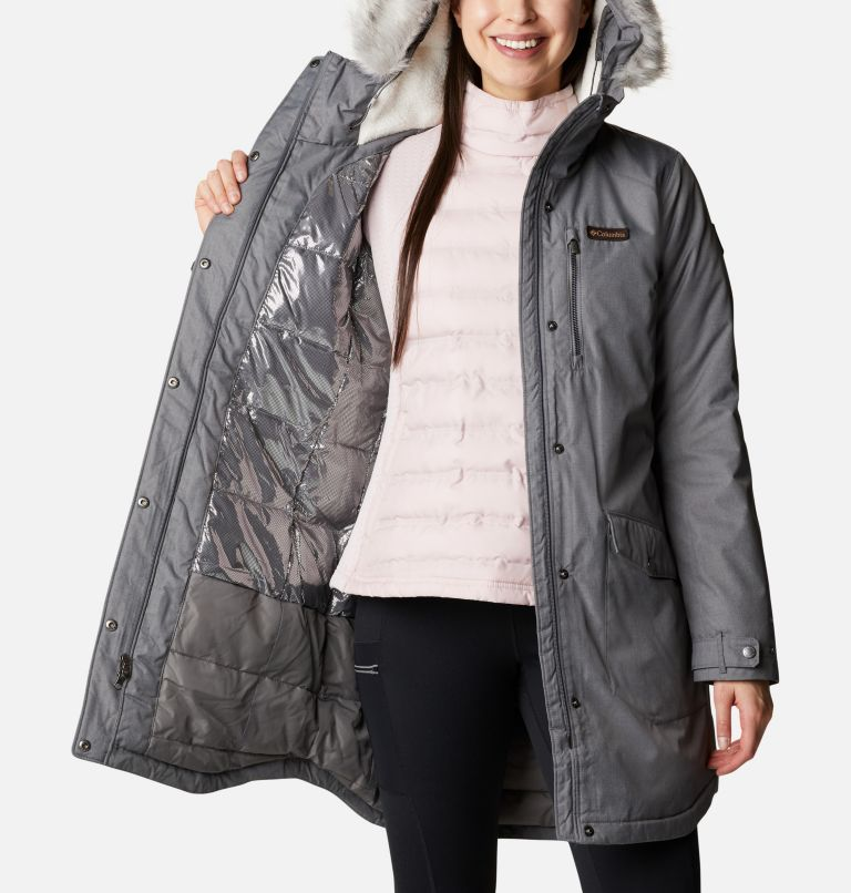 Suttle Mountain™ Long Insulated Jacket | 023 | L Women's Suttle Mountain™ Long Insulated Jacket, City Grey, a3