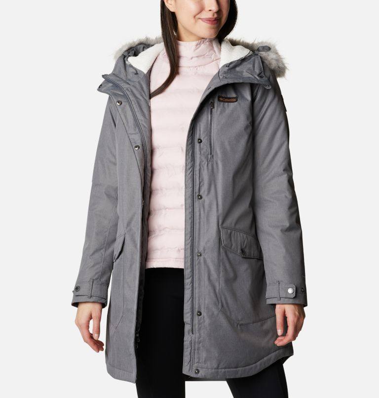 Suttle Mountain™ Long Insulated Jacket   023   S Women's Suttle Mountain™ Long Insulated Jacket, City Grey, a5