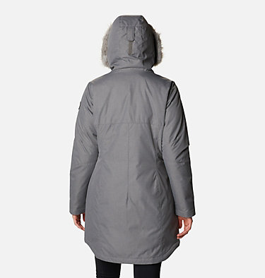 Women's Suttle Mountain™ Long Insulated Jacket Suttle Mountain™ Long Insulated Jacket | 619 | L, City Grey, back