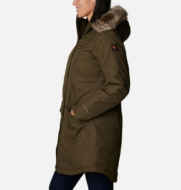 Suttle Mountain™ Long Insulated Jacket   319   S Women's Suttle Mountain™ Long Insulated Jacket, Olive Green, a1