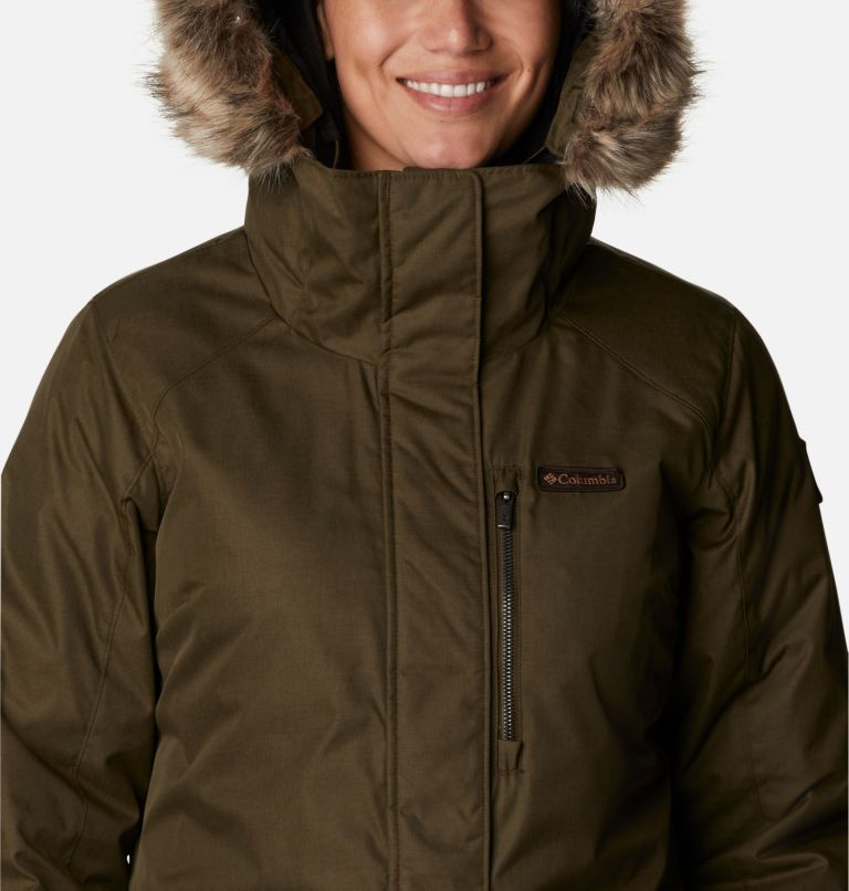 Suttle Mountain™ Long Insulated Jacket | 319 | XL Women's Suttle Mountain™ Long Insulated Jacket, Olive Green, a2