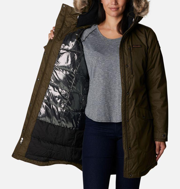 Suttle Mountain™ Long Insulated Jacket   319   S Women's Suttle Mountain™ Long Insulated Jacket, Olive Green, a3
