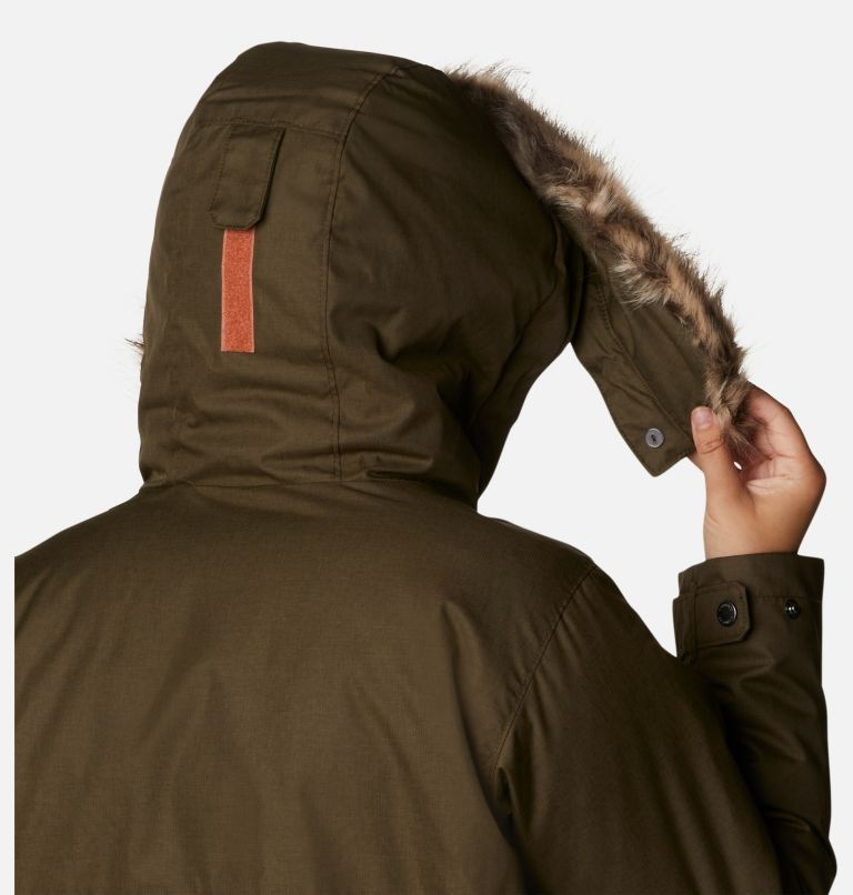 Suttle Mountain™ Long Insulated Jacket   319   S Women's Suttle Mountain™ Long Insulated Jacket, Olive Green, a5