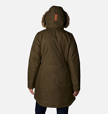 Women's Suttle Mountain™ Long Insulated Jacket Suttle Mountain™ Long Insulated Jacket | 619 | L, Olive Green, back