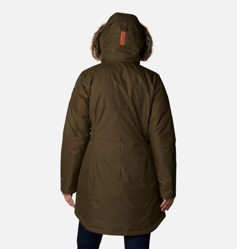 Suttle Mountain™ Long Insulated Jacket   319   S Women's Suttle Mountain™ Long Insulated Jacket, Olive Green, back