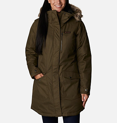 Women's Suttle Mountain™ Long Insulated Jacket Suttle Mountain™ Long Insulated Jacket | 619 | L, Olive Green, front