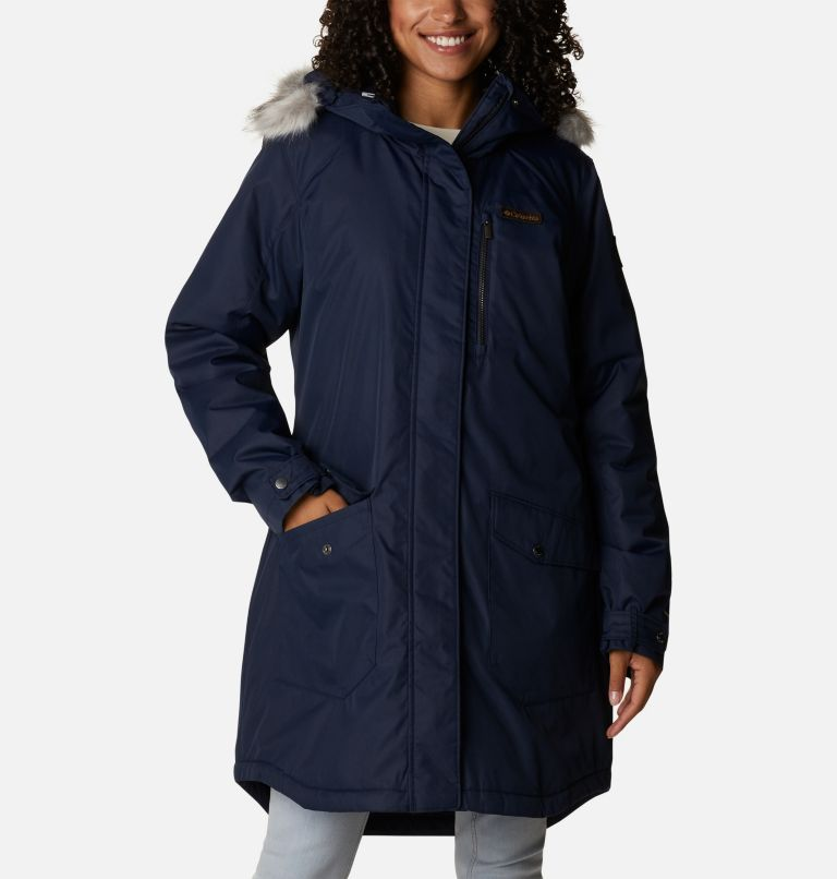 Suttle Mountain™ Long Insulated Jacket   472   XS Women's Suttle Mountain™ Long Insulated Jacket, Dark Nocturnal, front
