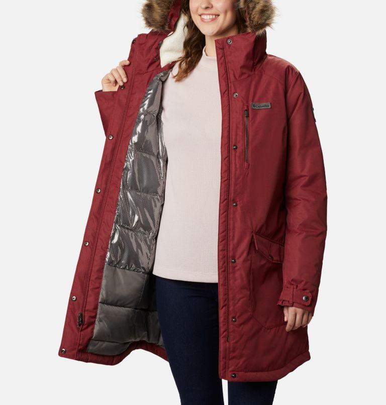 Suttle Mountain™ Long Insulated Jacket | 619 | S Women's Suttle Mountain™ Long Insulated Jacket, Marsala Red, a3