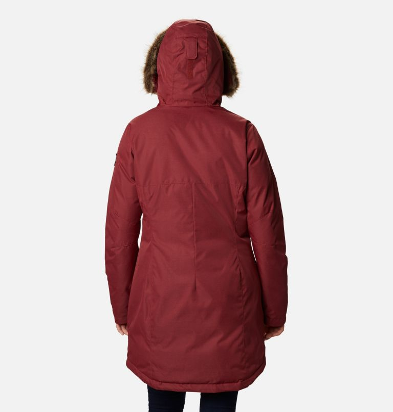 Suttle Mountain™ Long Insulated Jacket | 619 | S Women's Suttle Mountain™ Long Insulated Jacket, Marsala Red, back