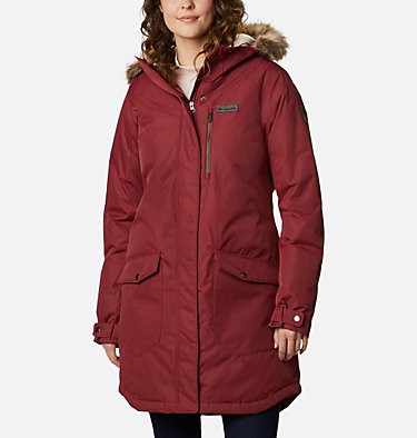 Women's Suttle Mountain™ Long Insulated Jacket Suttle Mountain™ Long Insulated Jacket | 619 | L, Marsala Red, front