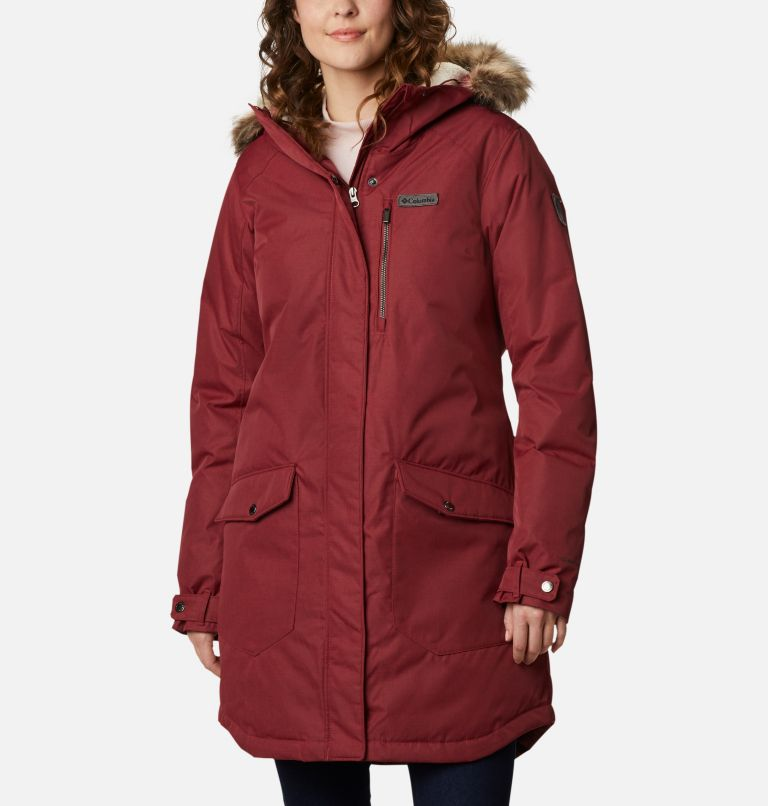 Suttle Mountain™ Long Insulated Jacket | 619 | S Women's Suttle Mountain™ Long Insulated Jacket, Marsala Red, front