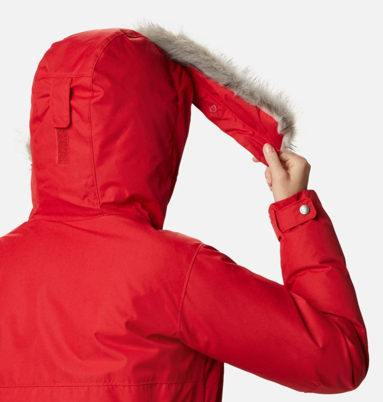 Suttle Mountain™ Long Insulated Jacket | 658 | XL Women's Suttle Mountain™ Long Insulated Jacket, Red Lily, a4