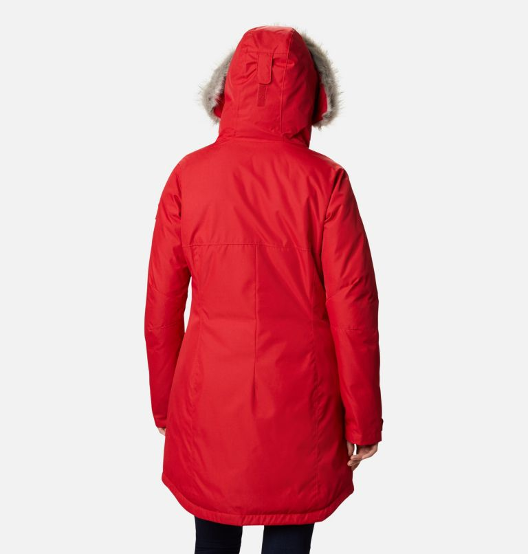 Suttle Mountain™ Long Insulated Jacket | 658 | XL Women's Suttle Mountain™ Long Insulated Jacket, Red Lily, back