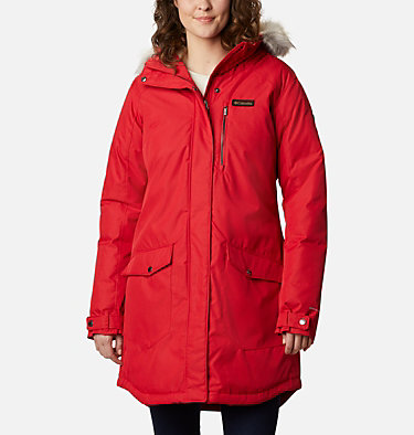 Women's Suttle Mountain™ Long Insulated Jacket Suttle Mountain™ Long Insulated Jacket | 658 | XL, Red Lily, front