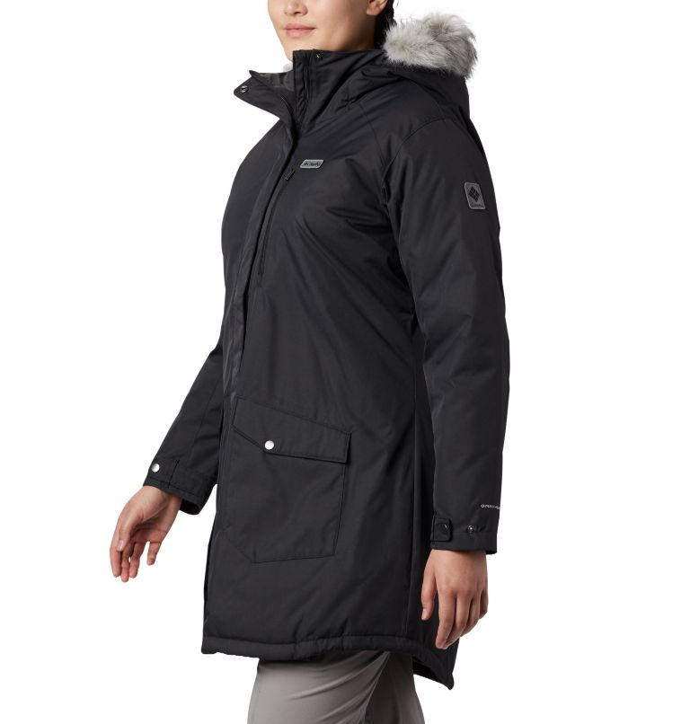 Suttle Mountain™ Long Insulated Jacket | 010 | 3X Women's Suttle Mountain™ Long Insulated Jacket - Plus Size, Black, a1