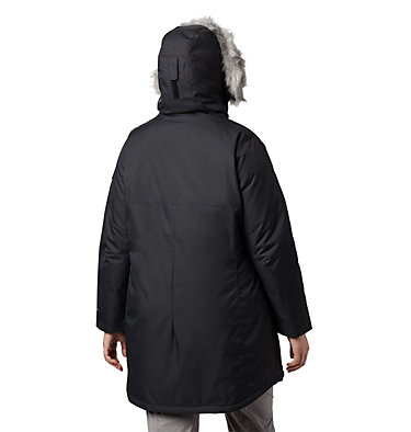 Women's Suttle Mountain™ Long Insulated Jacket - Plus Size Suttle Mountain™ Long Insulated Jacket | 619 | 2X, Black, back