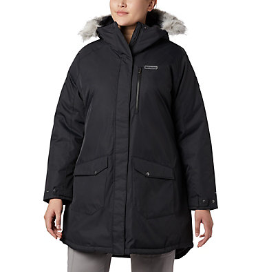 Women's Suttle Mountain™ Long Insulated Jacket - Plus Size Suttle Mountain™ Long Insulated Jacket | 618 | 1X, Black, front