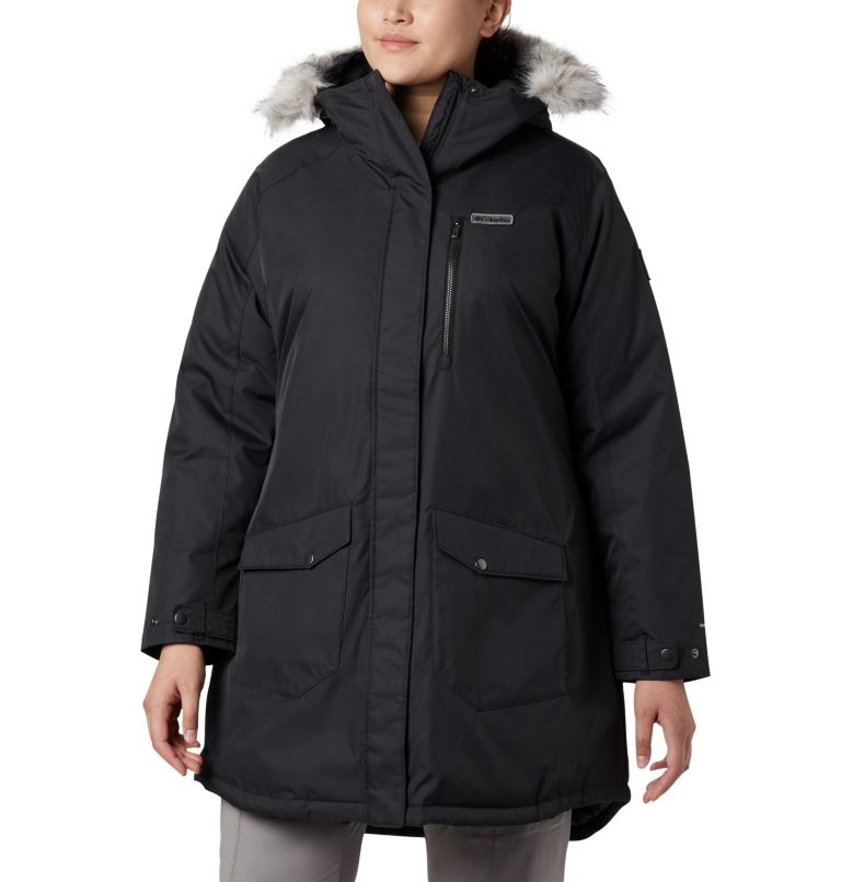 Suttle Mountain™ Long Insulated Jacket | 010 | 3X Women's Suttle Mountain™ Long Insulated Jacket - Plus Size, Black, front