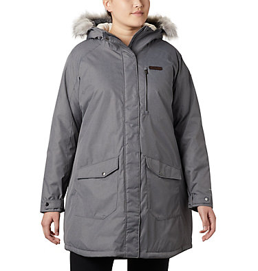 Women's Suttle Mountain™ Long Insulated Jacket - Plus Size Suttle Mountain™ Long Insulated Jacket | 618 | 1X, City Grey, front