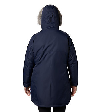 Women's Suttle Mountain™ Long Insulated Jacket - Plus Size Suttle Mountain™ Long Insulated Jacket | 618 | 1X, Dark Nocturnal, back