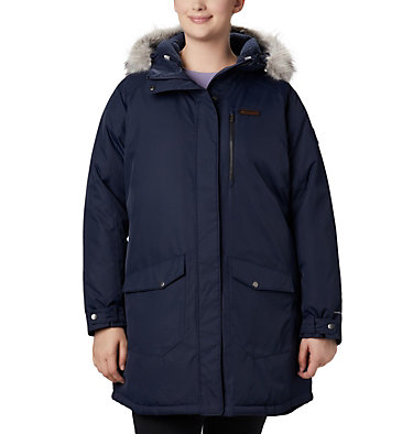 Women's Suttle Mountain™ Long Insulated Jacket - Plus Size Suttle Mountain™ Long Insulated Jacket | 618 | 1X, Dark Nocturnal, front