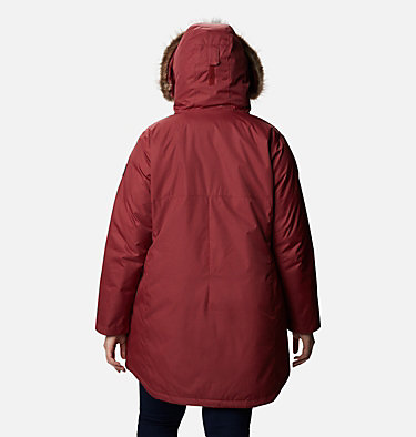 Women's Suttle Mountain™ Long Insulated Jacket - Plus Size Suttle Mountain™ Long Insulated Jacket | 618 | 1X, Marsala Red, back
