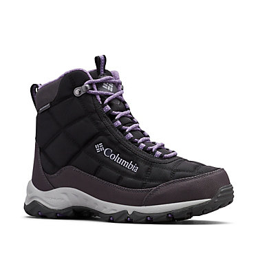 Women's Firecamp™ Boot FIRECAMP™ BOOT | 010 | 10, Black, Plum Purple, 3/4 front