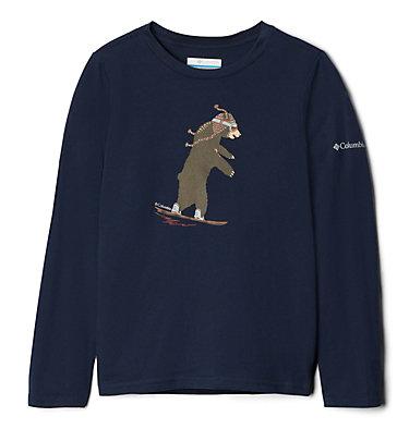 Haut manches longues Animal Antics™ pour garçon Animal Antics™Long Sleeve Shi | 032 | M, Collegiate Navy Bear Graphic, back