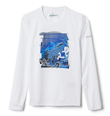 Kids' Trail Tearin™ Long Sleeve Shirt Trail Tearin™ Long Sleeve Shirt | 103 | L, White Dotscape Graphic, front