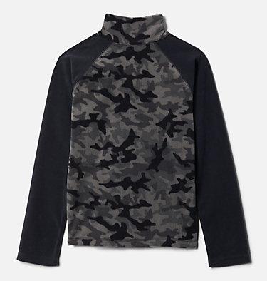 Boys' Glacial™III Printed Fleece 1/4 Zip Pullover Glacial™III Fleece Printed Half Zip | 012 | L, Black Trad Camo (A), Black, back