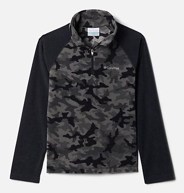 Boys' Glacial™III Printed Fleece 1/4 Zip Pullover Glacial™III Fleece Printed Half Zip | 012 | L, Black Trad Camo (A), Black, front