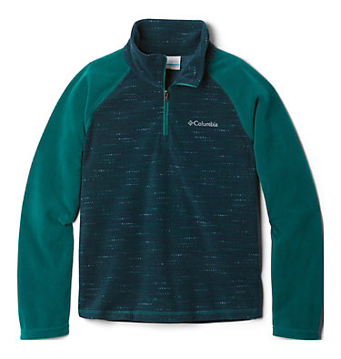 Boys' Glacial™III Printed Fleece 1/4 Zip Pullover Glacial™III Fleece Printed Half Zip | 012 | L, Pine Green Tweed, Pine Green, front