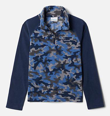 Boys' Glacial™III Printed Fleece 1/4 Zip Pullover Glacial™III Fleece Printed Half Zip | 012 | L, Night Tide Trad Camo (A), Coll Navy, front