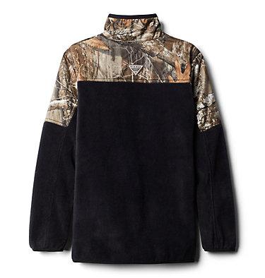 Boys' PHG™ Overlay 1/4 Zip Fleece Pullover PHG™ Overlay Half Zip Fleece   250   L, Black, back