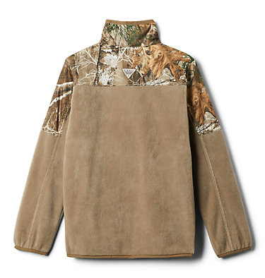 Boys' PHG™ Overlay 1/4 Zip Fleece Pullover PHG™ Overlay Half Zip Fleece   250   L, Flax, back