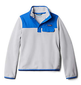 Kids' PFG Harborside™ Overlay 1/4 Snap Fleece Pullover