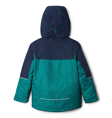 Boys' Mighty Mogul™ Jacket Mighty Mogul™ Jacket | 023 | M, Pine Green Check, Collegiate Navy, back