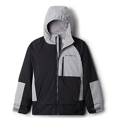 Boys' Snow Problem™ Jacket Snow Problem™Jacket | 386 | L, Black, Columbia Grey, front