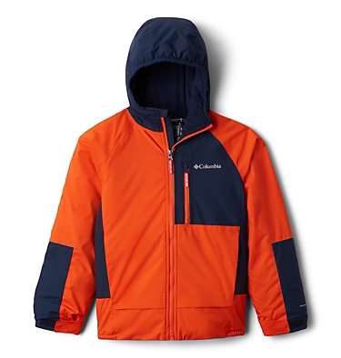 Boys' Snow Problem™ Jacket Snow Problem™Jacket | 386 | L, Tangy Orange, Collegiate Navy, front