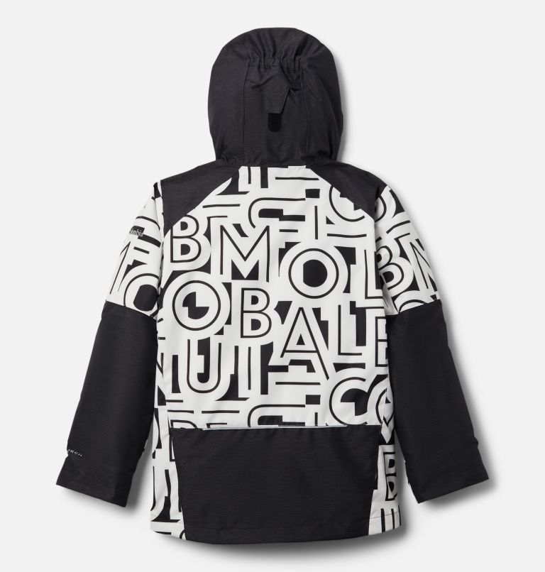 Whirlibird™ II Interchange Jacket | 012 | L Boys' Whirlibird™ II Interchange Jacket, Black Typo Print, Black, back