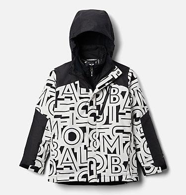 Boys' Whirlibird™ II Interchange Jacket Whirlibird™ II Interchange Jacket | 012 | XS, Black Typo Print, Black, front