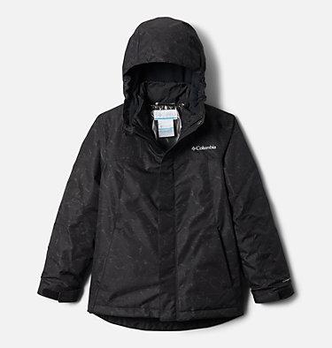 Girls' Whirlibird™ II Interchange Jacket Whirlibird™ II Interchange Jacket | 100 | S, Black Crackle Print, Black, front