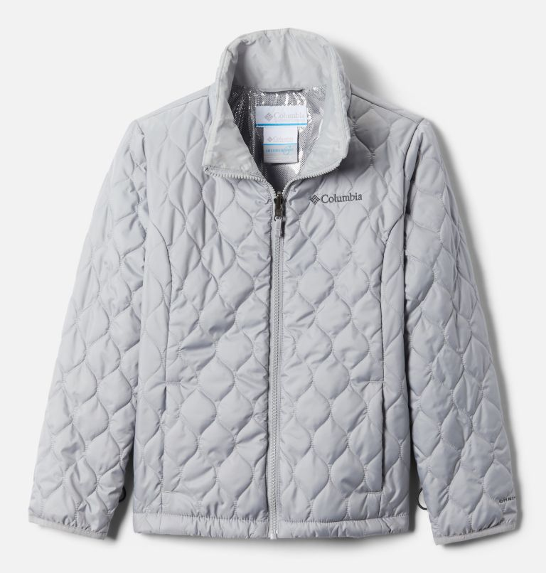 Whirlibird™ II Interchange Jacket | 100 | S Girls' Whirlibird™ II Interchange Jacket, White Crackle Print, Columbia Grey, a1