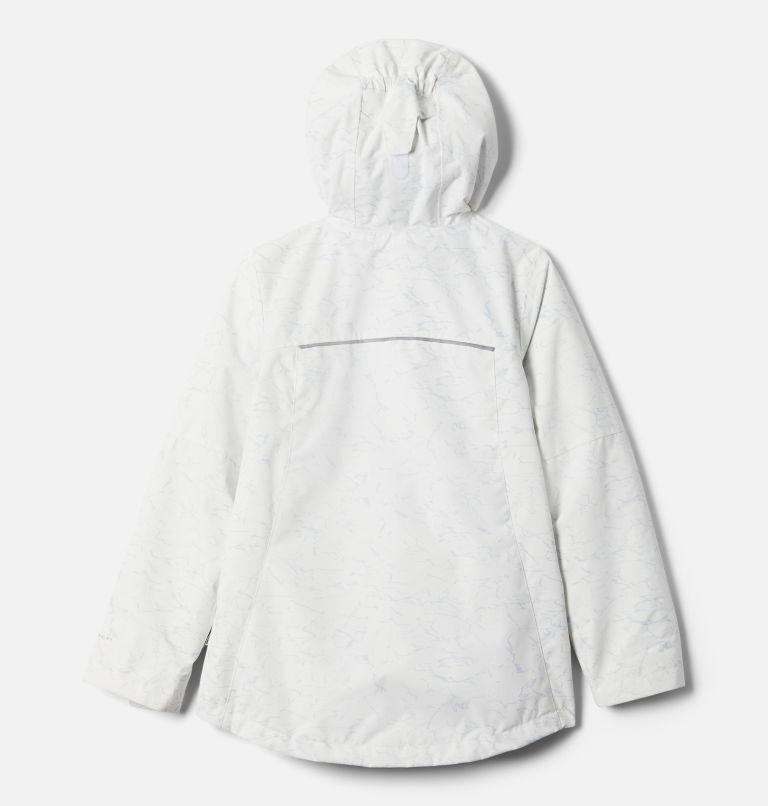Whirlibird™ II Interchange Jacket   100   XS Girls' Whirlibird™ II Interchange Jacket, White Crackle Print, Columbia Grey, back