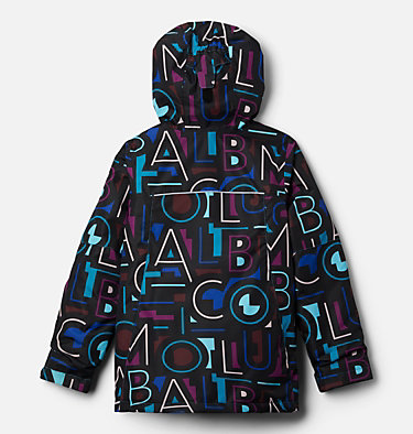 Girls' Whirlibird™ II Interchange Jacket Whirlibird™ II Interchange Jacket | 100 | S, Fjord Blue Typo Multi (B) Print, Fjord B, back