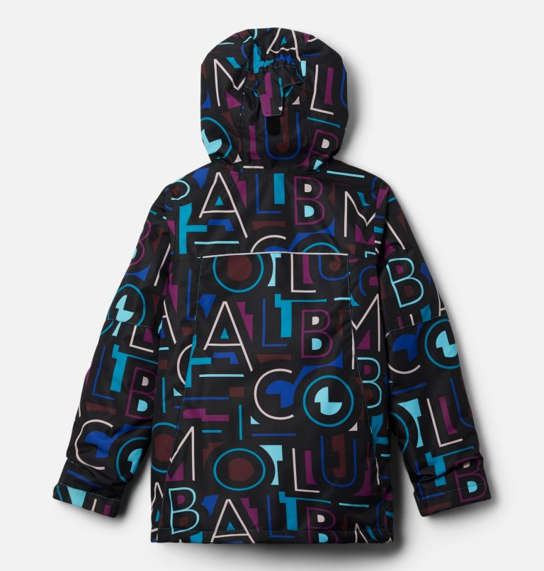 Whirlibird™ II Interchange Jacket | 462 | XL Girls' Whirlibird™ II Interchange Jacket, Fjord Blue Typo Multi (B) Print, Fjord B, back