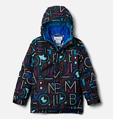 Girls' Whirlibird™ II Interchange Jacket Whirlibird™ II Interchange Jacket | 100 | S, Fjord Blue Typo Multi (B) Print, Fjord B, front