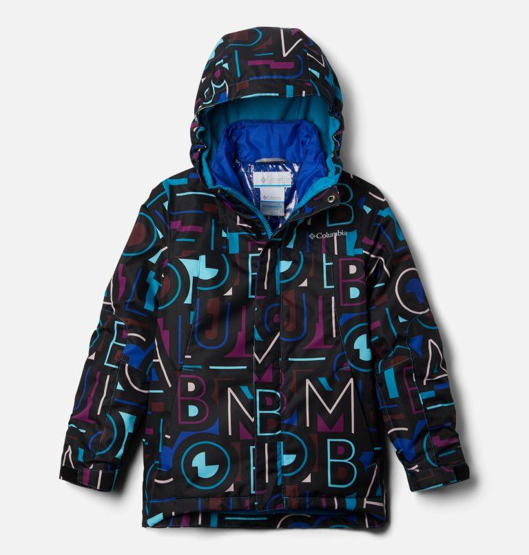 Whirlibird™ II Interchange Jacket | 462 | XL Girls' Whirlibird™ II Interchange Jacket, Fjord Blue Typo Multi (B) Print, Fjord B, front