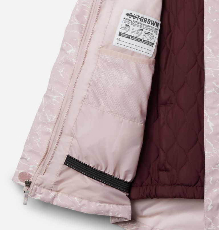 Whirlibird™ II Interchange Jacket | 618 | XS Girls' Whirlibird™ II Interchange Jacket, Mineral Pink Crackle Print, Mineral Pink, a1