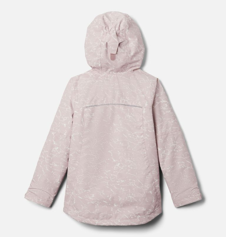 Whirlibird™ II Interchange Jacket | 618 | XS Girls' Whirlibird™ II Interchange Jacket, Mineral Pink Crackle Print, Mineral Pink, back